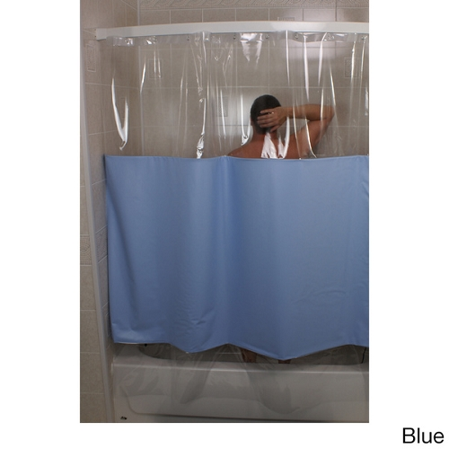 Rujan Peek A Boo Standard Hang Shower Curtain Solid Color