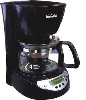Coffee Maker Automatic Shut Off : Commercial 4-Cup Coffee Maker, anti-drip valve, with Auto Shut Off