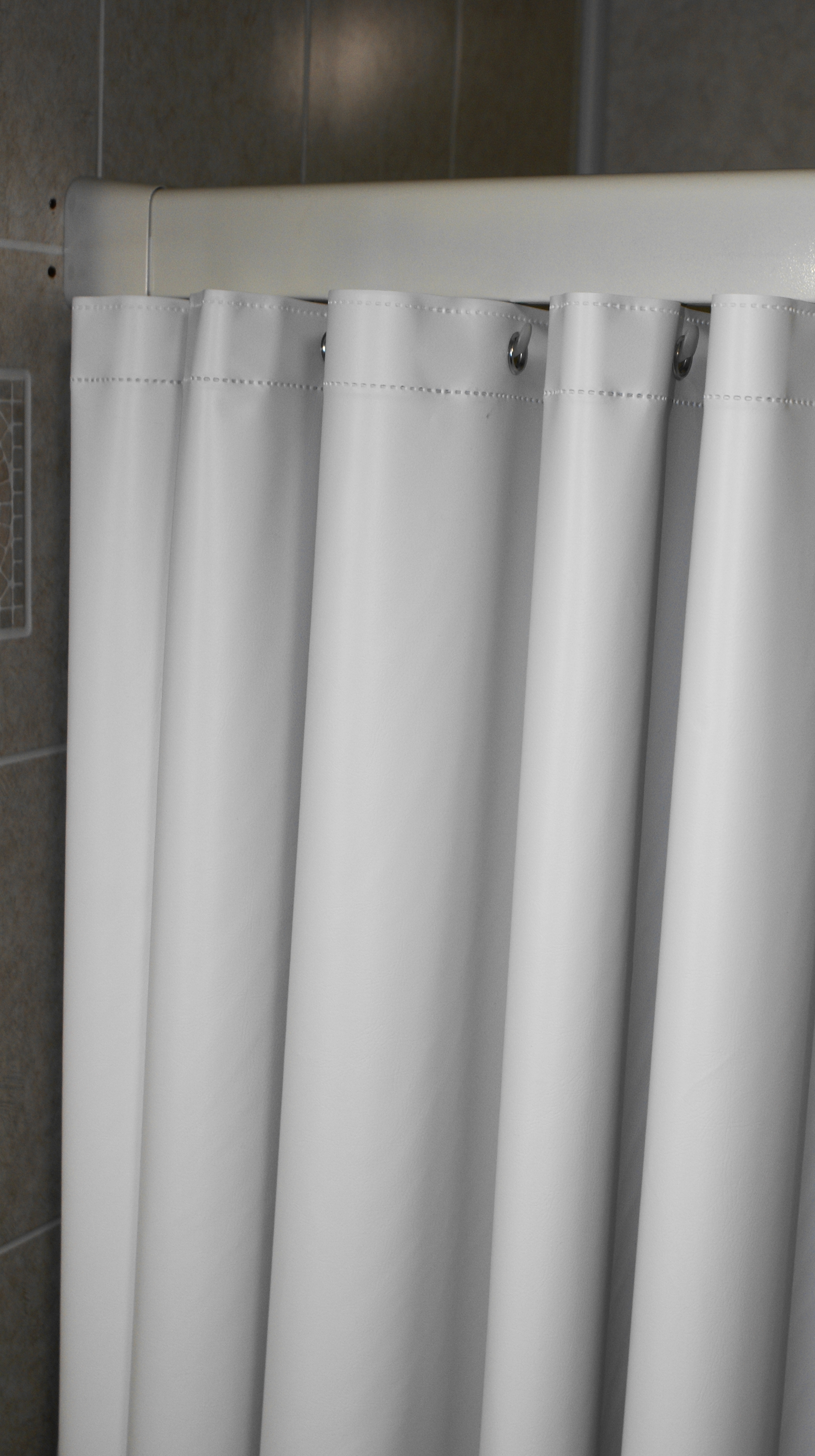 Heavy Stall Vinyl Shower Curtain 4 X6
