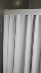 HEAVY VINYL SHOWER CURTAIN, 6'x6' (70