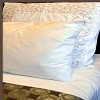 Crease Resistant, 300 Tc Plain-Solid White Hotel Casino Bed Sheets, Twin SETS