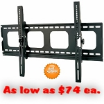COMMERCIAL Hospitality TILT WALL MOUNT (For Flat Screen TV). Fits Size 42-70