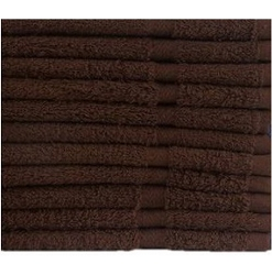 Economy 10's Hotel DARK BROWN-BATH TOWELS, 4.00 lb/dz, 20x40
