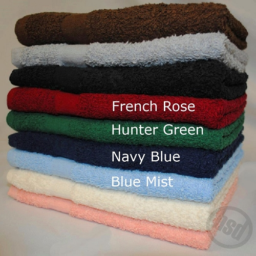 PREMIUM Collection 100% RING SPUN Cotton, NAVY BLUE Bath Towel, 27x54