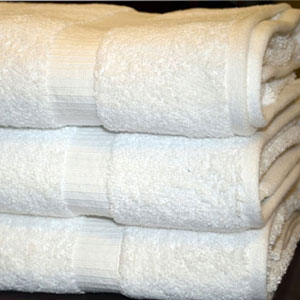 Oxford BELLEZZA-Ribbed Dobby Border, 100% Ringspun Cotton, Bath Towels 27x54
