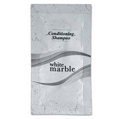 White Marble Shampoo Conditioner Packet, 0.25 oz, Clean Scent 288/Carton, by Breck