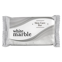 White Marble Skin Care Deodorant Bar Soap, # 1 1-2 Individually Wrapped Bar, 500-carton, Dial Amenities