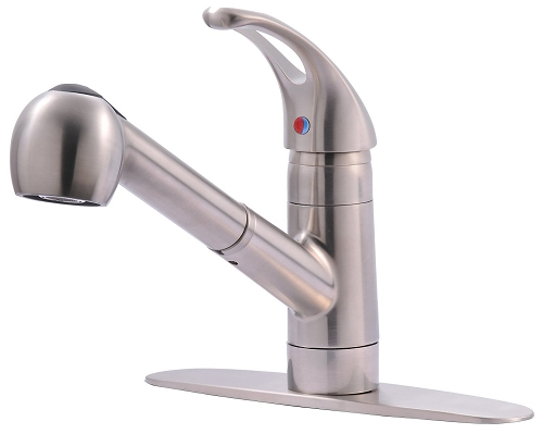 Ultra UF12003 Single-Handle Kitchen Faucet with Pull-Out Spray, Stainless Steel Finish (low as $59.55)