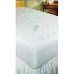 3 Ply QUILTED FITTED WATERPROOF MATTRESS PADS, White, Twin 39x75