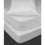 3 Gauge Vinyl Zippered Pillow Protector, White-Standard 21 x 27