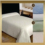 Nursing Home AVALON Bedspreads Jacquard 65% Cotton/35% Polyester, Twin  80x116