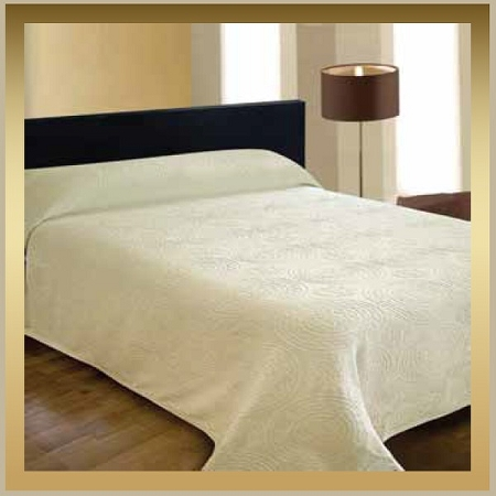 MEDALLION: Jacquard Bedspreads, 65% Cotton/35% Polyester, Twin 80x116