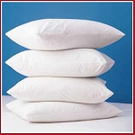 Zippered Pillow Covers, 250 TC Cotton/Polyester, White Standard 21x27