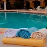 Solid Colors HOTEL/MOTEL Pool Towels, 100% Ring Spun Cotton, 30x60