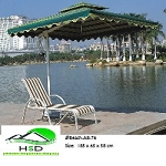 Beach/Pool Chair A8-76: Waterproof Rattan outdoor products synthetic durable, all-weather maintenance free.