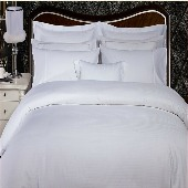 Hotel Duvet Cover, Plain White-60/40 Blend, 250 Thread count, QUEEN size, Envelope Style, (Low as $50.00 ea, 12 or more)