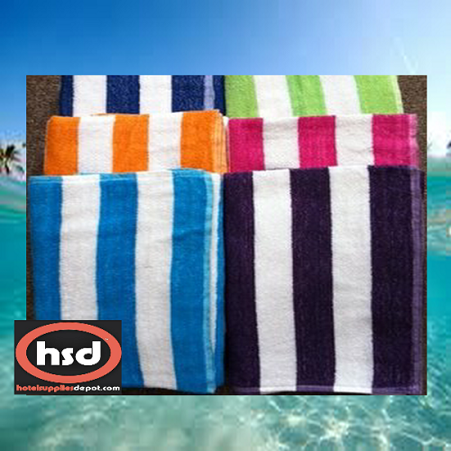 "WHOLESALE CABANA Hotel POOL BEACH Towels, 27"" X 54"