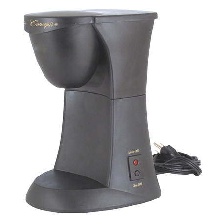 Single Serve / One Cup Coffee Maker/Brewer, with auto off brew cycles.