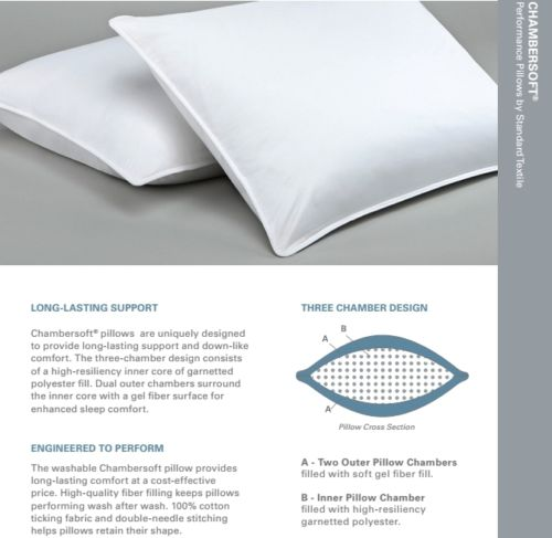Chambersoft Pillow By Standard Textile Hypoallergenic