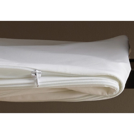Zippered FEATHER BED & FIBER BED Cover, White