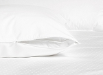 Zippered Pillow Protector - 230 Thread count,100% Cotton Shell,  Plain Weave Standard, 20
