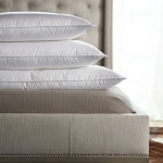 MEDIUM-Synergy® 90/10 Duck Feather HOTEL PILLOW, Luxurelle Down Alternative, 230 Ticking, Standard Size