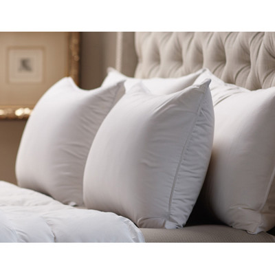 by Down Inc. LUXURY-MEDIUM SNOW WHITE DOWN™, 330 thread count  SLEEPING PILLOW, Made to order in USA.
