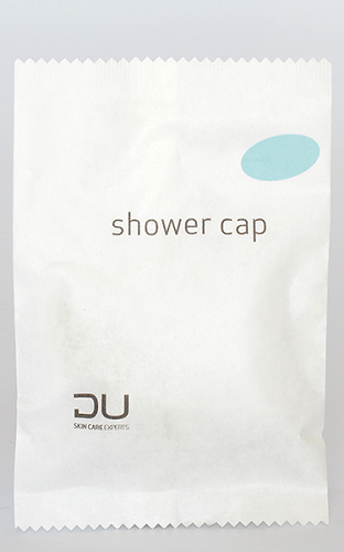 DU  SHOWER CAPS in Sachet, 100/case (as low as $ 0.137 each)