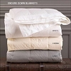 TWIN-Endure™ Down Blanket, 230 Thread Count, 100% Premium White Duck, White, Creme or Grey, by Down Inc (Starting at $116.10 each)