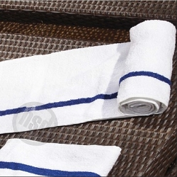 FREE SHIPPING-22 inch x 44 inch, Blue Center Stripe 5.75 Lb/Dz  Pool Towels, Hotel/Motel Economical, 100% Cotton, Price per Dozen.