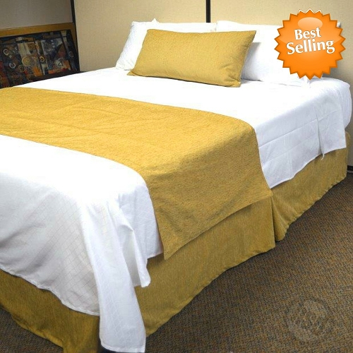 Hotel JACQUARD CHENILLE, Bed Runners-Scarfs,100% Micro Polyester SUEDE, SOLID COLOR, KING (low as $36.04 each)