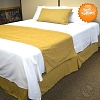 Hotel JACQUARD CHENILLE, Bed Runners-Scarfs,100% Micro Polyester SUEDE, SOLID COLOR, TWIN (low as $23.58 each)