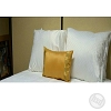 Hotel JACQUARD STRIPE, DECO PILLOW CASES with Zipper,100% Micro Polyester SUEDE, SOLID COLOR, 12x20