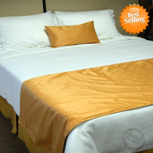 Hotel Self Lined, Bed Runners-Scarfs,100% Micro Polyester SUEDE, SOLID COLOR, KING (low as $27.45 each)