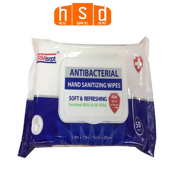 GERMISEPT 50 Ct Antibacterial Hand Sanitizing Wipes. Pack, 24 Packs Case. Low as $81.90 case