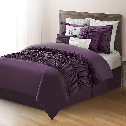 10 Piece Comforter Set Bed in a Bag Bedding QUEEN Size, (PLUM) Home Quality, Starting at $83.60 each
