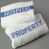 Hospital Property Towel, White-Name Woven in Blue, 100% Cotton, 20x40