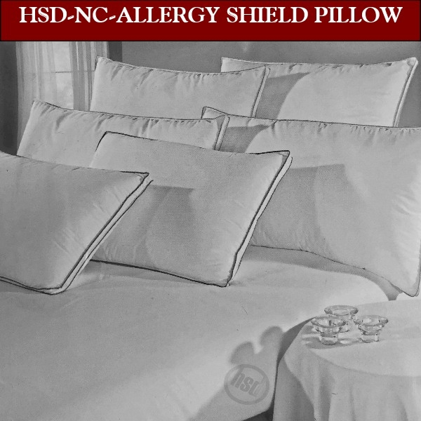 Standard-T300 Allergy Shields Luxurious Down Alternative Pillows-Hypo-Shields Against Bacteria, Dust Mites, Pollen, Mildew. Recommended By Allergist