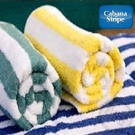Cabana Pool Towel Stripe, 100% Ring Spun Cotton- 32x66