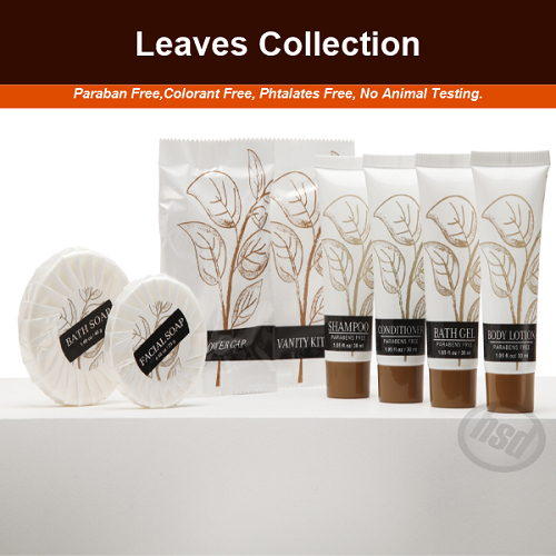 LEAVES Collection, Hotel Round Pleated Facial Bar Soap,