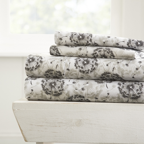 HOME MAKE A WISH- Patterned 4-Piece Sheet Set. From ($20.99 to $28.99 Set)