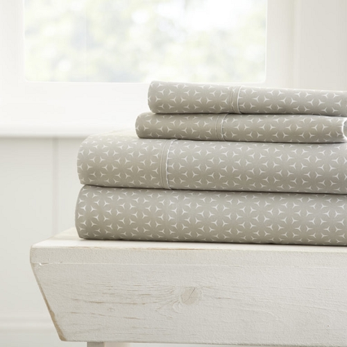 HOME MERCEDES- Patterned 4-Piece Sheet Set. From ($20.99 to $28.99 Set)