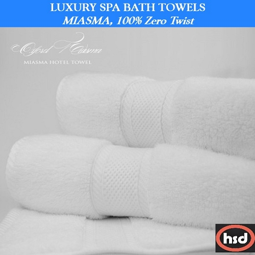 Hotel-Casino Luxury Hand Towel, Miasma 100% Zero twist Combed Cotton, 16 x 28