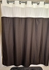 NEW MILLENNIUM SO-EZY HANG Polyester Window Shower Curtain W/SNAP AWAY Liner, 72x74
