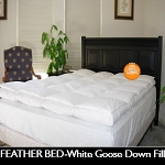 FEATHER BED, King White Goose Down Feather Bed, 550 Fill TWIN, 39 x 75