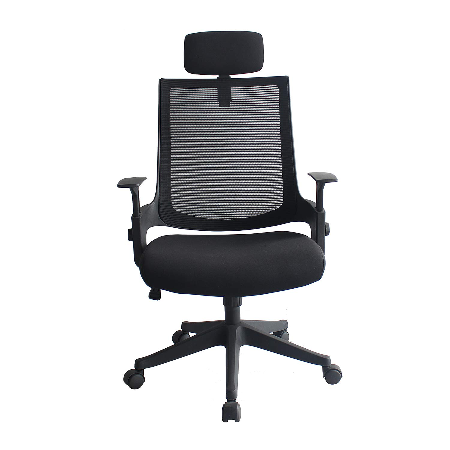 Ergonomic Office Chair High Back Mesh Chair with Adjustable Headrest and Armrests, Tilt Lock, Lumbar Support Mesh Desk Executive Office Chair (Black), $79.90 each