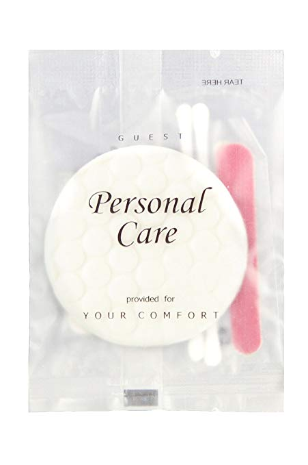 Bulk Hotel Guest Amenity, Personal Care Kit (frosted sachet)- 500/case (low as $ 0.169 each)