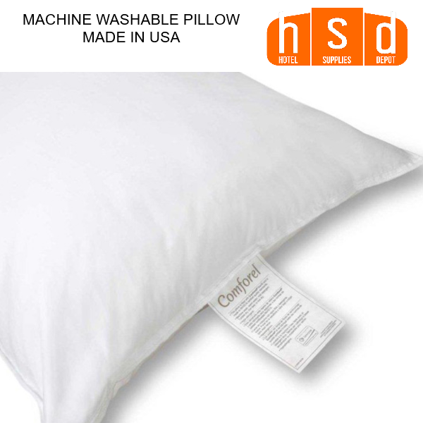 MACHINE WASHABLE PILLOW-22CICC-C, CLUSTER FIBERFIL T230 Ticking, CRADLES HEAD, NECK AND SHOULDER, STANDARD SIZE, Made in U.S.A