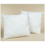 Piped Edge Euro Pillow Form: 26x26 Euro Pillow Form. Goose down/feather, Set of 2 Pillows.