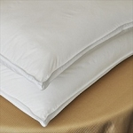 Queen 30oz.-FIRM FILLED Hotel Embossed Satin Stripe Fabric-Down Alternative Microfiber Pillow, each